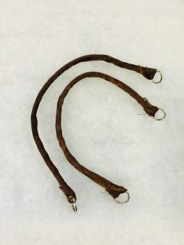 Handgjord i brun satin