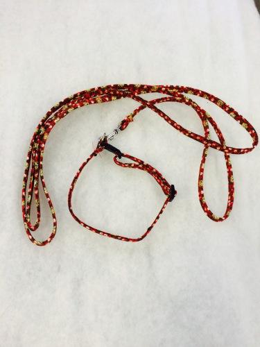 Koppelset i röd blommigt. 9mm