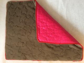 Underlägg i brunt och rosa