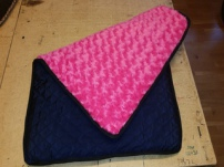 Underlägg rosa och svart