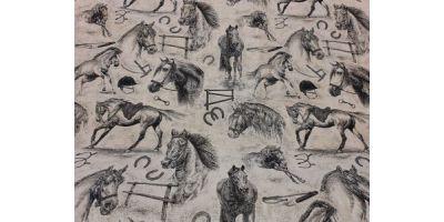 Mellan bädden med motiv Hästar