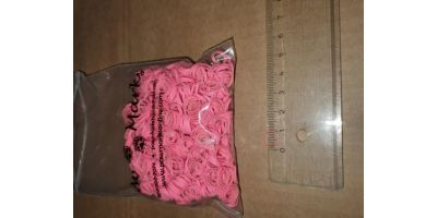 Latex snodd L 10-12mm rosa